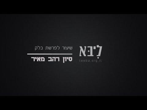 ליבא | סיון רהב מאיר | שיעור לפרשת בלק (תשע״ז)