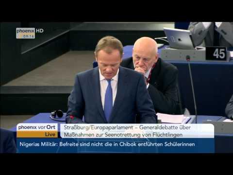 EU-Flüchtlingspolitik: Donald Tusk & Jean-Claude Juncker zur Seenotrettung am 29.04.2015