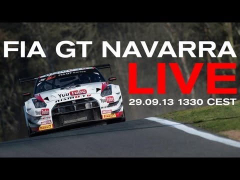 FULL RACE AND ONBOARD (Recorded LIVE) - FIA GT 2013 Navarra - (Check country restrictions in desc.)