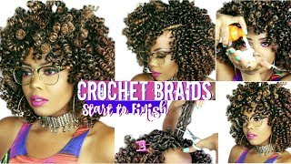 HOW TO | CROCHET BRAIDS ON 4C #NATURALHAIR |START TO FINISH + HOW TO REMOVE CROCHET BRAIDS|TASTEPINK