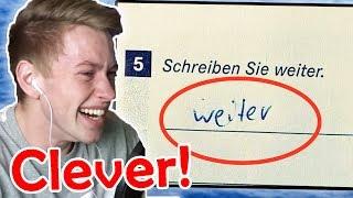 Die LUSTIGSTEN ANTWORTEN von SCHÜLERN in Tests!! (MEGA WITZIG)