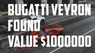 GTA 5 Bugatti Veyron Found Value $1000000  Super Car Very Fast