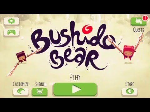 Bushido Bear (by Spry Fox LLC) first level gameplay