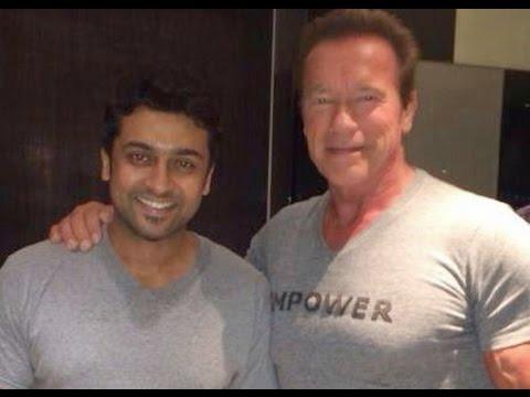 Actor Surya Meets Arnold Schwarzenegger At Chennai | Jayalalithaa | I Movie Audio Launch video