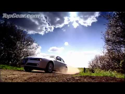 Top Gear Alfa Romeo 159 Race With Man Crossing Estuary