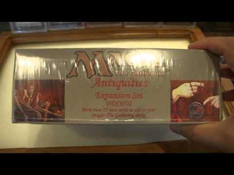 Vintage Magic Reviews | MTG MAGIC: THE GATHERING ANTIQUITIES FACTORY SEALED BOOSTER BOX