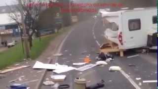Dash Cam Fail Catches Crazy Travel Trailer Car Crash