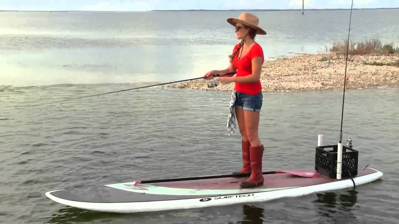 Stand up with sam paddle board fishing youtube for Best fishing sup