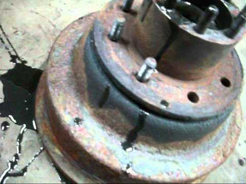 changing dodge 350 brake drums YouTube