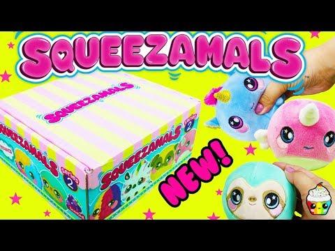 Squeezamals NEW Series 2 Cute Plushie Squishies Cupcake Kids Club
