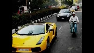 Lamborghini in india at chalageri toll booth