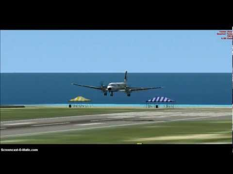 FSX - Ryanair Hawker-Siddley HS748 Landing at St Maarten