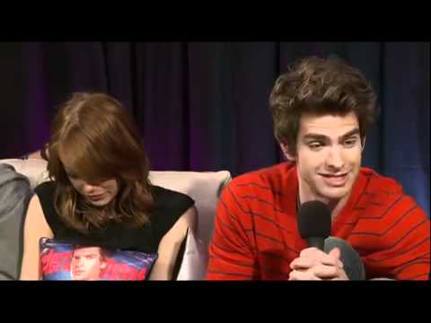 Emma Stone & Andrew Garfield EW Interview at 2011 Comic Con