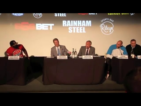 **WARNING EXPLICIT LANGUAGE** DERECK CHISORA v TYSON FURY II - FINAL LONDON PRESS CONFERENCE