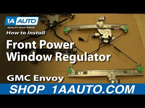 How To Install Replace Front Power Window Regulator 2002-09 GMC Envoy