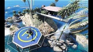 GTA 5 - Chở ghệ đi qua biệt thự trên đảo và gặp cá mập | ND Gaming
