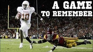 A Game to Remember: USC vs Texas | 2006 National Championship