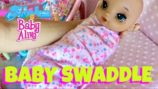 🍼 Baby Alive Lil Slumbers Doll Feeding and Night Routine! 👶🏼 How to Swaddle a Baby Doll!😊