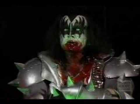 Gene Simmons spitting blood in Farewell Tour Video
