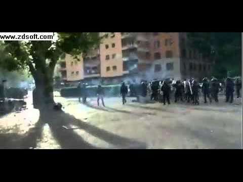 Football fans clash in Rome ahead of the Italian Cup final