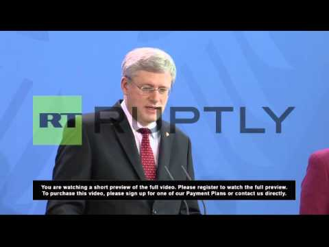 Germany: Putin has 'desired to be a rival' - Stephen Harper