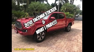 What I Paid For My 2018 Tacoma!