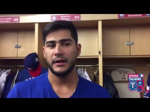 Martin Perez shares 2016 goals