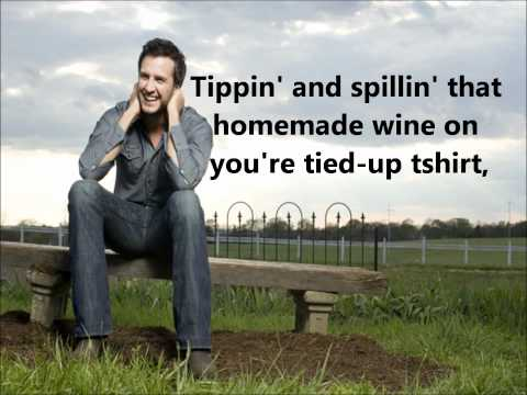 Drunk On You - Luke Bryan (lyrics) video