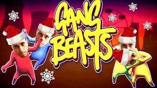Gang Beasts de sarbatori cu Mos Craciun!