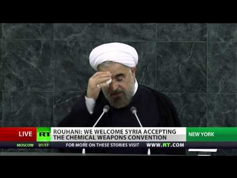 Hassan Rouhani, President of Iran, speaks at the 68th Session of the UN General Assembly