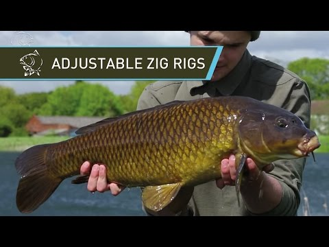 Carp Fishing Adjustable Zig Rigs using Nash Zig Bugs Zig Float and Gyro Bug Mix - Nash Tackle
