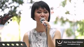 Joanna Dong performs Just The Way You Are with The Summertimes Hotshots