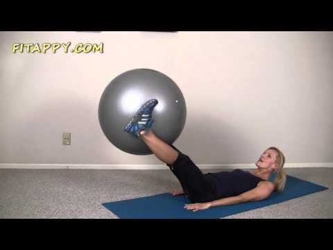 Easy Abs Workout With Ball   Beginner Exercise Ball Workout