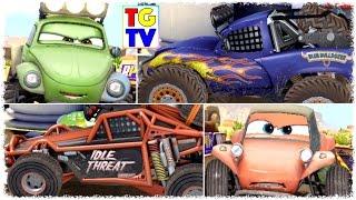 Disney Pixar Cars RS500 Sandy, Blue, Idle & Shifty   Cars Fast as Lightning