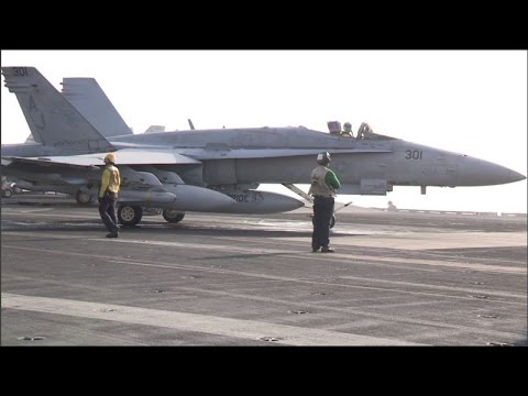 Navy aircraft fly missions over Iraq and Syria against ISIL