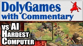 Age of Empires 2 HD Killing Hardest AI Computer with Skirmishers (Byzantines civilization)