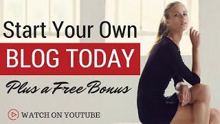 Start A Wordpress Blog in 10 Minutes   Free Bonus  Tutorial for Beginners 2016