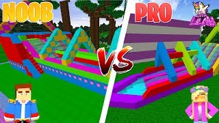 Minecraft NOOB VS PRO : SLIP 'N' SLIDE in Minecraft!