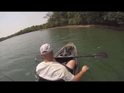 Kayak fishing in Iowa with my Ascend FS10