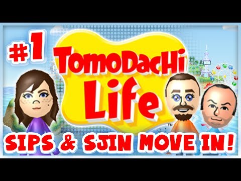 Tomodachi Life - #1 - Sips & Sjin Move In!