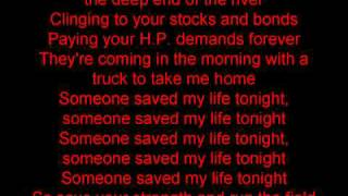 Watch Elton John Someone Saved My Life Tonight video
