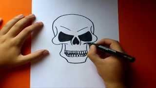 Download video Como dibujar una calavera paso a paso  | How to draw a skull