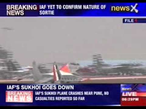 IAF's fighter plane Sukhoi 30 crashes in Pune, both pilots eject safely
