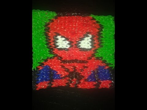 Spiderman en elastique loom videolike for Mural en elastique