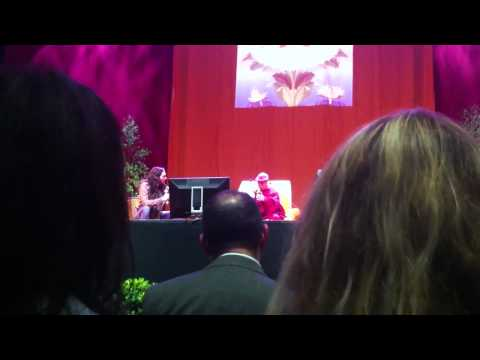 His Holiness the Dalai Lama with Russell Brand -Manchester 16th June 2012