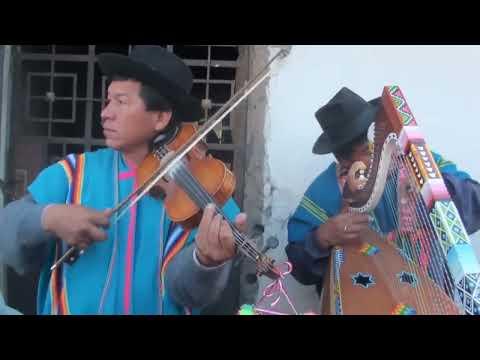 Arpa y Violin en Chacña 2012 Juan Caccha Quintucha y Jaime Quilca