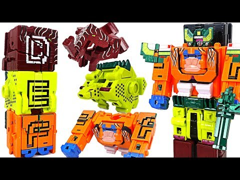 Power Rangers Zyuohger Zyuoh alphabet transform & combine Beast King appeared! - DuDuPopTOY
