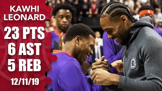 Kawhi makes his Toronto return, scores 23 points for Clippers vs. Raptors | 2019-20 NBA Highlights