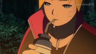 Boruto le pide a Sasuke que le hable de Naruto/Sasuke le habla del pasado de Naruto a Boruto.