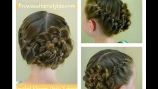 Braided Flower Updo, Easter & Prom Hairstyles